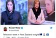 """المذيعات في نيوزيلندا يرتدين الحجاب اثناء تقديم نشرات الاخبار والصحف تزين صفحاتها بعبارة """" سلام """" لحجم كبير"""