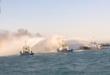 """اطفاء الحريق الذي اندلع في رصيف """" ميناء الخفكة """" لتصدير النفط للسوق العالمية في البصرة"""