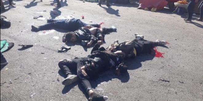 قيادة العمليات المشتركة : 28 شهيداً و73 جريحاً في تفجير انتحاري مزدوج وسط بغداد