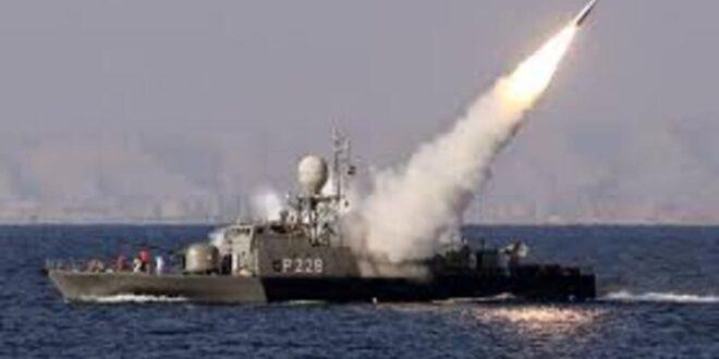 السفن الحربية الايرانية تختبر صواريخ كروز شمال المحيط الهندي وتصيب اهدافها بدقة