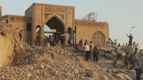 تطهير مسجد نبي الله يونس من قبضة داعش الوهابي ومقتل وهروب عناصر داعش الوهابي