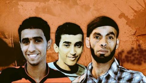 استمرار التظاهرات في  انحاء البحرين تنديدا بجريمة اعدام نظام ال خليفة  3 من الناشطين السلميين